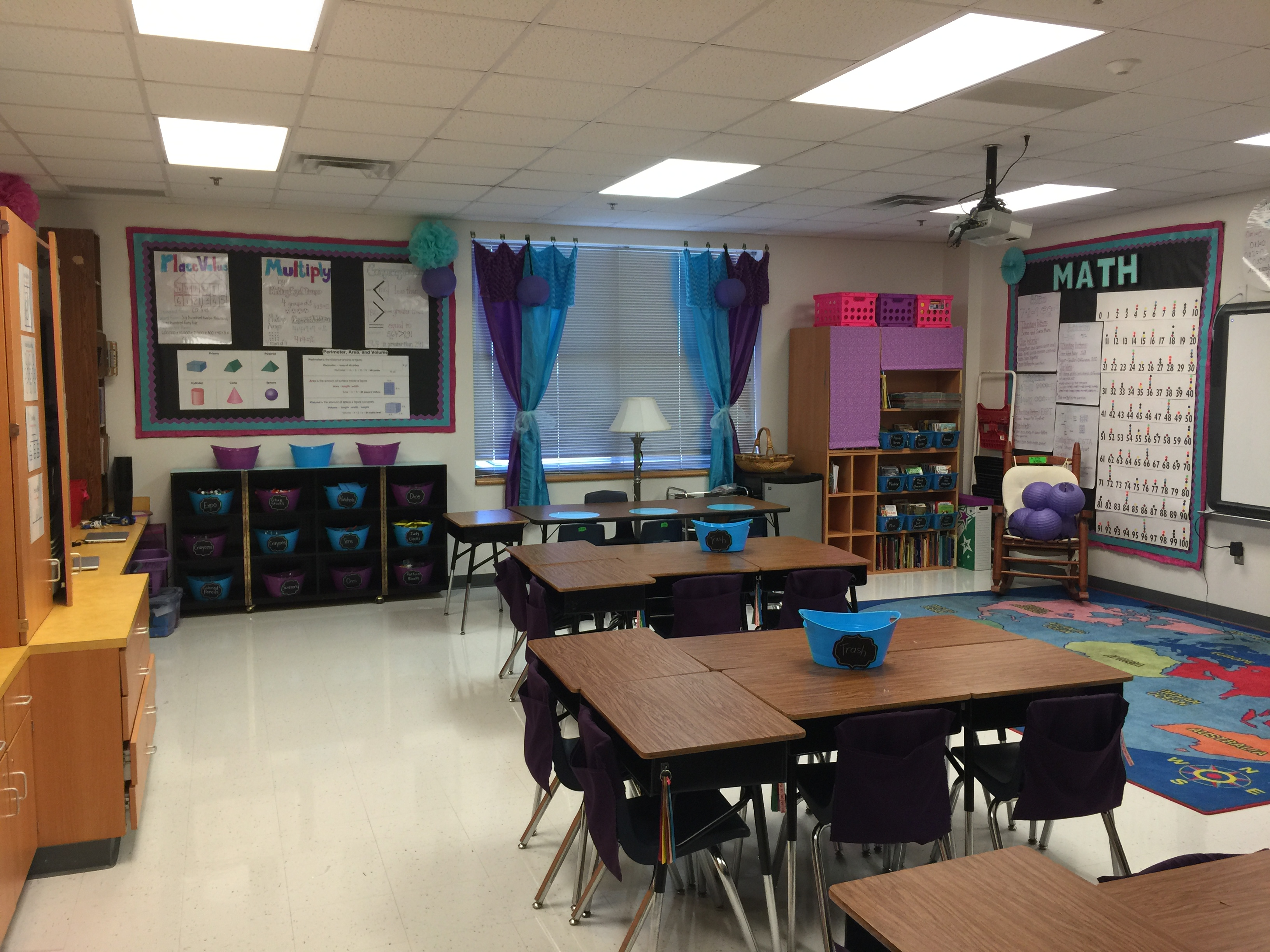 Teal Classroom Decor ~ Pink purple and teal colorize your classroom