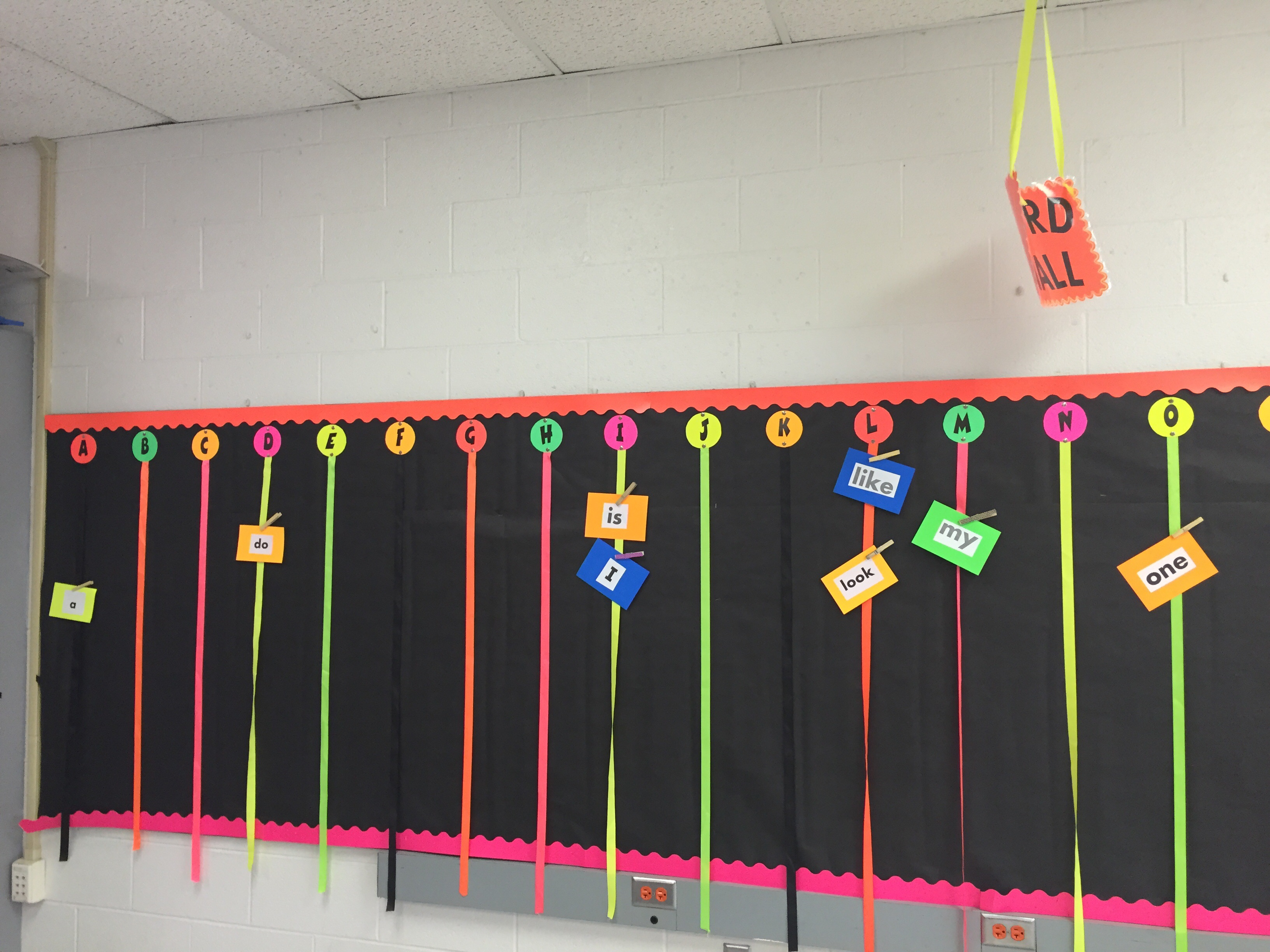 Neon word wall Colorize Your Classroom